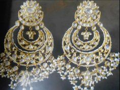The perfect kundan polki chandbali