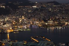 Night view in Nagasaki Japan by KOZI_M