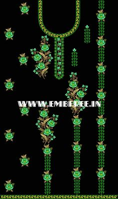 Embroidery Works, Embroidery Dress, Hand Embroidery, Machine Embroidery, Embroidery Designs Free Download, Border Embroidery Designs, Textile Patterns, Textiles, Katan Saree