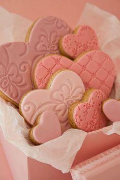 Pink sugar cookies