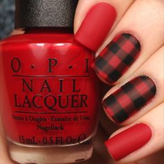 Here's the tutorial for my buffalo plaid nails! Very fall and winter appropriate ❄️⛄️ Tag someone who ❤️s this kind of plaid! 679 (ft…