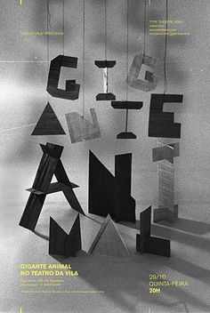 Typographic poster design by Daniella Domingues Typographic Poster, Typography Letters, Graphic Design Typography, Japanese Typography, Creative Typography, Graphisches Design, Tool Design, Interior Design, Typography Inspiration