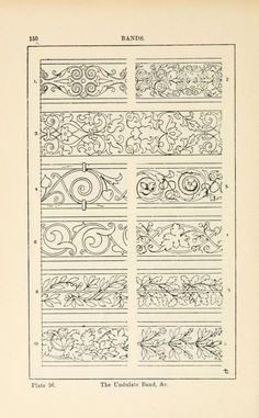 A handbook of ornament Bands page 150 the undulate band