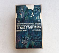 60s book The Magic Of Their Singing Bernard Wolfe Great Cover Art Greenwich Village Boho Counterculture Beat Generation turquoise spot red