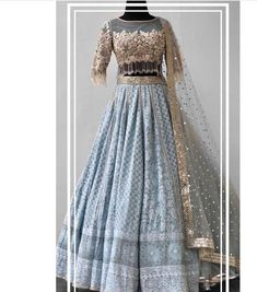 Indian wedding gowns Lehenga blouse designs Indian bridal outfits Indian wedding wear Indian wedding dress Lehenga blouse - Beautiful Chikankari LehengaCholi with beautiful hand embroidered blous - Indian Wedding Gowns, Indian Gowns Dresses, Indian Bridal Outfits, Indian Bridal Lehenga, Indian Designer Outfits, Lehenga Choli Wedding, Wedding Dresses, Ghagra Choli, Lehnga Dress