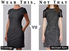 Wear This, Not That: Ecoology vs #michaelkors  like the ethical design more anyway :p