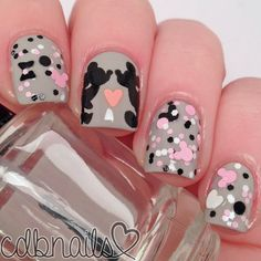 Nails Design Disney Valentines Day New Ideas Disney Nail Designs, Nail Art Designs, Nails Design, Red Nails, Hair And Nails, Cute Nails, Pretty Nails, Disney Valentines, Indie