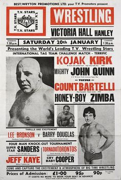 Flyer design stock photos and images for graphic designers. Vintage Graphic Design, Graphic Design Typography, Graphic Design Inspiration, Wrestling Posters, Boxing Posters, British Wrestling, Catch, Grid, Typographic Poster