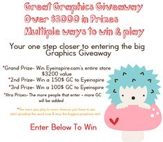 Amazing giveaway at Eyeinspire.com!  Her designs are gorgeous and you can win her whole store!