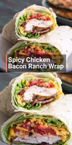 This Spicy Chicken Bacon Ranch Wrap is the perfect quick and easy meal packed with flavor! This easy wrap recipe is great for meal prep or a quick 15 minute dinner! Lunch Meal Prep, Healthy Meal Prep, Easy Healthy Dinners, Quick Easy Meals, Healthy Dinner Recipes, Easy Meals For One, Healthy Eating, Healthy Food, Healthy Panini Recipes