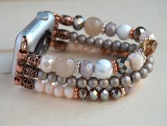 Apple Watch Bracelet Band, Apple Watch Bands Fashion, Art Watch, Beautiful Watches, Turquoise Gemstone, Crystal Bracelets, Bracelet Designs, Making Ideas, Handmade Silver Jewelry