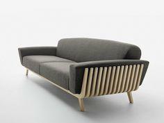Upholstered solid wood sofa HAMPER by Passoni Nature | design Arturo Montanelli, Ezio Riva