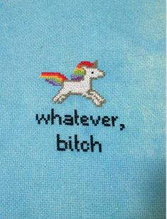 Unicorn cross stitch. Someone learn how to cross stitch and make this for me, please and thank you.
