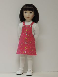 Doll jumper, top, tights for A Girl for All Time size dolls