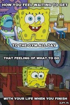 Spongebob explains the gym...