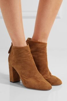 AQUAZZURA Downtown chic suede ankle boots Suede Ankle Boots 541f4d185