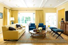 I didn't even think I liked yellow interiors but I LOVE this! from Home | California Home + Design