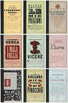 Beautiful Typographic Covers