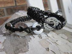 Custom Stamped Leather Bracelet by BeebsBracelets on Etsy, $25.00 @Mimi Mukai!!! cool, huh?!