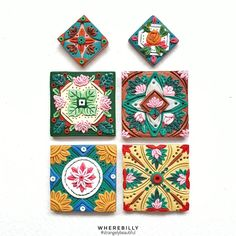 "Strangely Beautiful Jewellery on Instagram: ""Peranakan Tiles.  Made another pair for myself to celebrate the start of motherhood and bring me back to my roots. I am most relaxed when i…"""