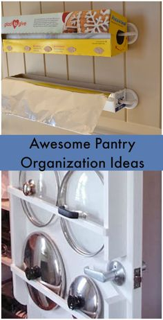 Awesome pantry organization ideas. Some cool ideas I'll have to try in my small pantry. #PantryOrganization