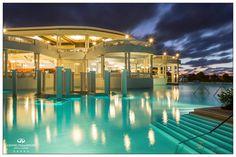Gorgeous night view of the main pool at Grand Palladium Jamaica #DreamDestination #HoneyMoon #DestinationWedding