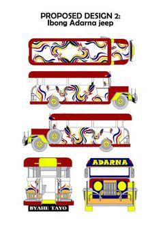 Student work for Jeepney design contest - Raffles Design Institute Manila