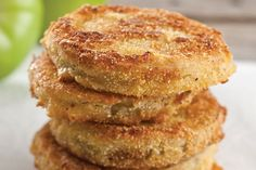 """""""When you make Fried Green Tomatoes, the salt pulls the water out of the tomatoes so that you don't end up with soggy breading. Let the salted tomatoes stand for at least 30 minutes or up to 8 hours. The longer they stand, the drier they'll get."""" — Paula"""