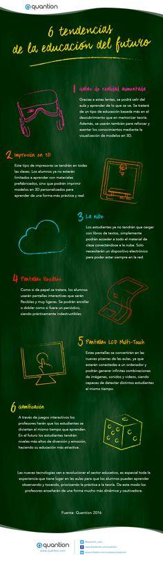 6 tendencias de la educación del futuro #infografia