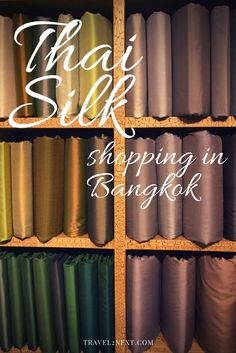 Where to buy Thai silk in Bangkok. Here are places to buy Thai silk while visiting Thailand and some tips on choosing Thai silk. Bangkok Travel, Thailand Travel, Asia Travel, Dyi, Bangkok Thai, Travel Inspiration, Travel Ideas, Travel Tips, Travel Plan
