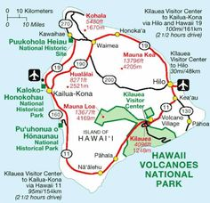 Map of the Big Island  Hawaii Travel Guide  Pinterest  Big