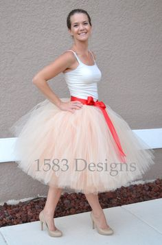 Custom Made Layered Basic Tutu Skirt  For BIG KIDS and ADULTS by 1583Designs special occasion wedding flower girl bachelorette engagement photos