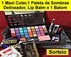 Sorteio 1 Maxi colar,Paleta de Sombras 3D,Delineador,Lip balm e Batom.