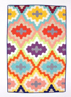 Geometric Hexagon Baby Quilt / Toddler Quilt by MelissaHevey