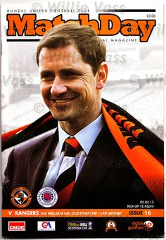Official programme for Dundee Utd v Rangers, Scottish Cup 5th Round on 2nd February 2013