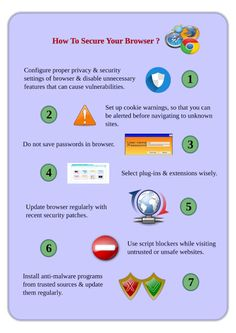 Infographic : How To Secure Your Browser