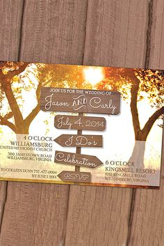 Fall Wedding Invitations With Brilliant Colors Of Autumn