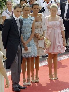 Princess Stephanie and her children, including Luis, Pauline and Camille (left to right)