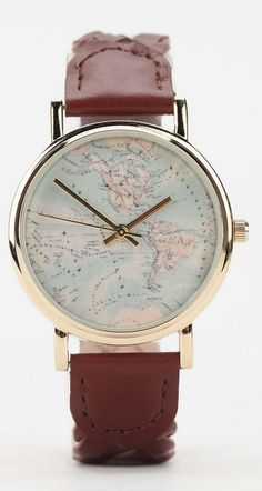 braided leather map watch  http://rstyle.me/n/t4hi5pdpe