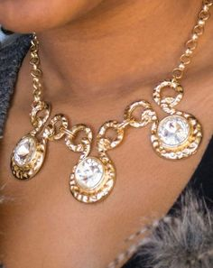 You will have them Hypnotized by your great style when you wear this gold and crystal necklace. $5 at Katherines Corner Shop