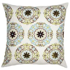 """#zgallerie  Asha Pillow 24"""" - Ivory  $79.95  No sofa is complete without some comfy, pretty pillows in a variety of colors and patterns."""