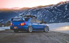 Montañas de nieve coches Subaru Impreza Subaru Impreza WRX Subaru Impreza WRX STI fondo del papel pintado