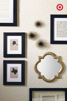 Your wedding day is going to be picture perfect, so plan ahead and register for enough frames to show it off. Spruce up your gallery wall by using a consistent frame color and style, then throw in a few fun accents and designs to express your personality.