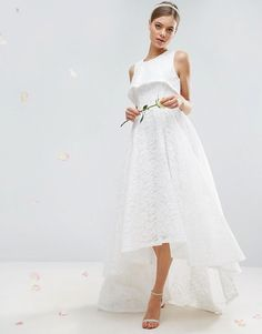 ASOS BRIDAL High Crop Lace Maxi Dress at Asos #affiliatelink