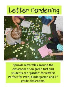 Letter Gardening--prek, K & 1st