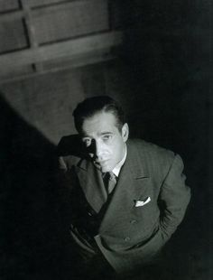 Humphrey Bogart. Ironically, the cover of my favorite Bogie biography.