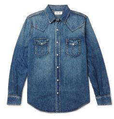 Slim-Fit Washed-Denim Western Shirt | MR PORTER/690.00