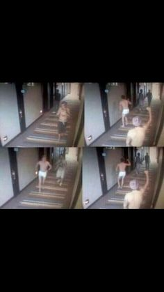 Harry n Niall running around in boxers in a hotel