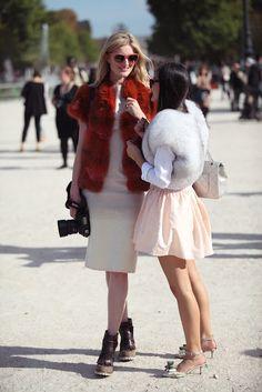 Candice Lake and Peoni Lim @ Paris fashion week 2012 #fur #PFW #Hockley #London