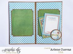 Mini album by Arlene using Home Sweet Home #graphic45